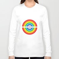 pokeball Long Sleeve T-shirts featuring Rainbow Pokeball by Hi 5 Graphics