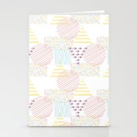 memphis Stationery Cards featuring Memphis geométrico by Flor Tate