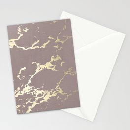 Kintsugi Ceramic Gold on Red Earth Stationery Cards