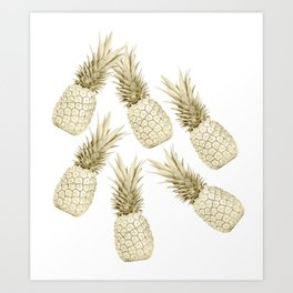 Pineapple Bling Art Print