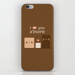 I Love You S'more iPhone Skin