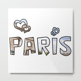 Love Paris Metal Print