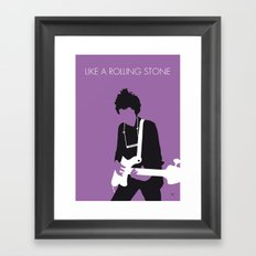 No001 MY BOB DYLAN Minimal Music poster Framed Art Print