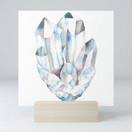 Watercolor quartz crystal Mini Art Print