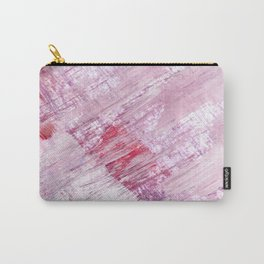 Magnetic [10]: a minimal abstract piece in gold, pink, red, white and purple Carry-All Pouch