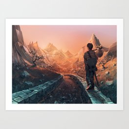 A world of poetry Art Print