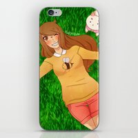 puppycat iPhone & iPod Skins featuring Bee and Puppycat by radcoffee