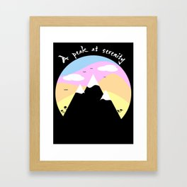 A Peak At Serenity Framed Art Print