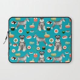 schnauzer sushi dog breed pet pattern dog mom Laptop Sleeve