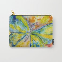 Blue and yellow butterfly with orange and yellow Carry-All Pouch