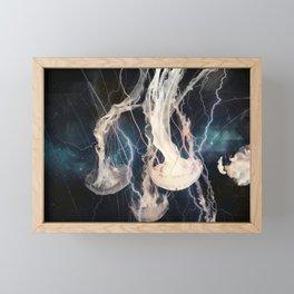Space Jellyfish Framed Mini Art Print