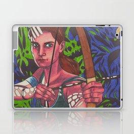 Lara on Fire Laptop & iPad Skin