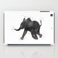 baby elephant iPad Cases featuring Baby Elephant by Carma Zoe
