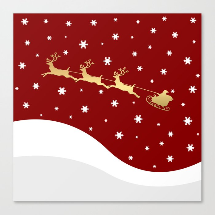 Red Christmas Santa Claus Canvas Print