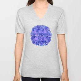 Hydrangea blue Unisex V-Neck