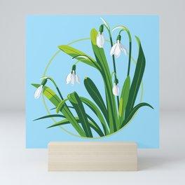 Snowdrop Flowers Mini Art Print