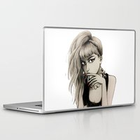 grimes Laptop & iPad Skins featuring Grimes by Justine Lecouffe