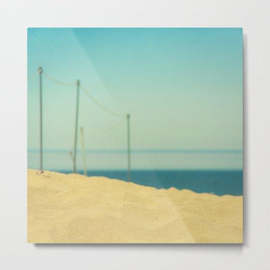 Beach Fence Metal Print
