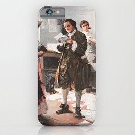 Benjamin Franklin - The Printer - Philadelphia iPhone Case