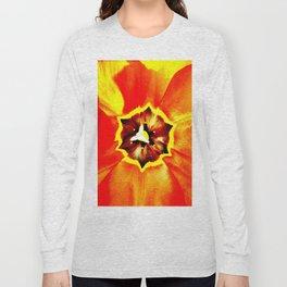 Orange Red Calyx Long Sleeve T-shirt