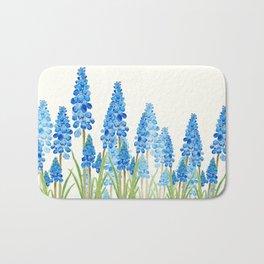 blue grape  hyacinth forest Bath Mat