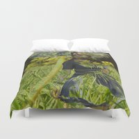 fairies Duvet Covers featuring Flower Fairies by BryonyEloise