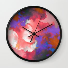 Colorful clouds in the sky II Wall Clock