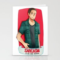 sarcasm Stationery Cards featuring Sarcasm by IanPinkis