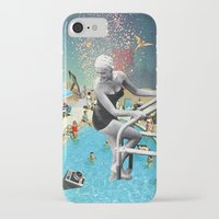 hippy iPhone & iPod Cases featuring Happy Hippy Hippo by Eugenia Loli