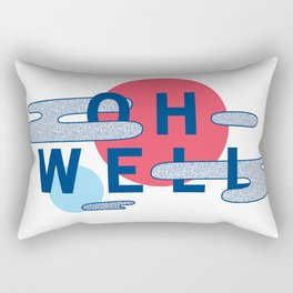 Oh Well - Blue and Red Rectangular Pillow