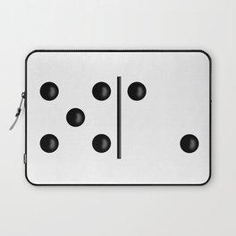 White Domino / Domino Blanco Laptop Sleeve