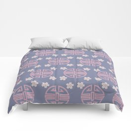 Pastel Oriental Pattern Comforters