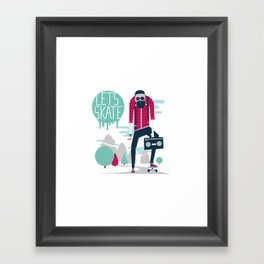 Let's skate  Framed Art Print