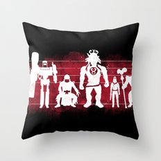 Plastic Villains  Throw Pillow