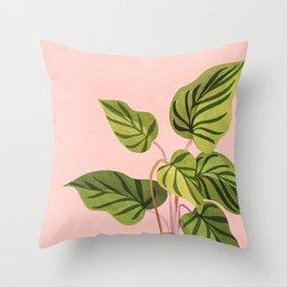 Upstart / Tropical Plant Throw Pillow