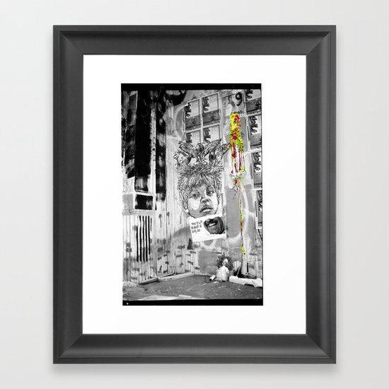 Truth Lies Framed Art Print