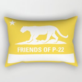 P-22 Mountain Lion Yellow Rectangular Pillow