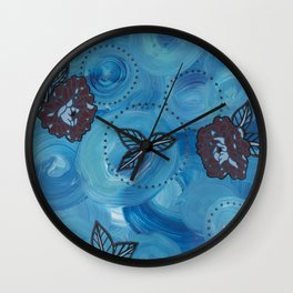 Triptych-3 Wall Clock