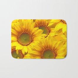 Yellow Mellow Sunflower Bouquet #decor #society6 #buyart Bath Mat