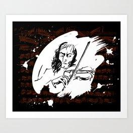 Paganini (2) Art Print