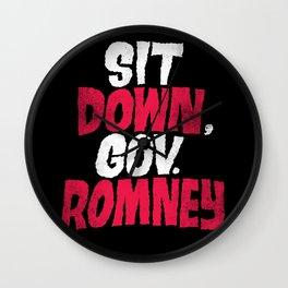 Sit Down, Gov. Romney. Wall Clock