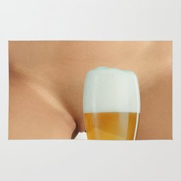 Beer and Naked Woman Rug