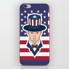 Uncle Sam - patriotic cartoon iPhone Skin