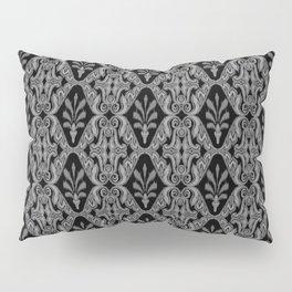 Gray Ikat Pillow Sham