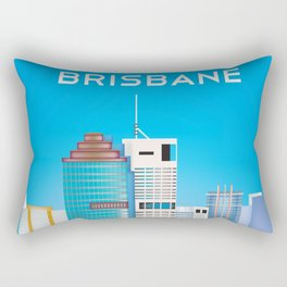 Brisbane, Australia - Skyline Illustration by Loose Petals Rectangular Pillow