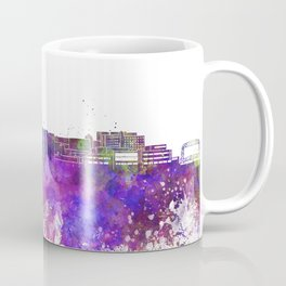 Duluth skyline in watercolor background Coffee Mug