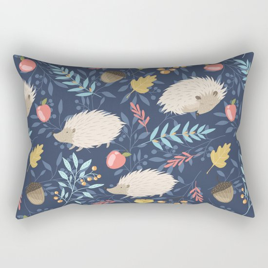 White hedgehogs Rectangular Pillow
