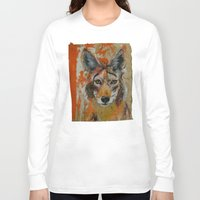 coyote Long Sleeve T-shirts featuring Coyote by Ali Kirby
