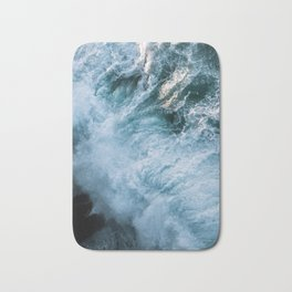 Wave in Ireland during sunset - Oceanscape Bath Mat