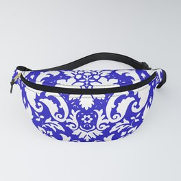Paisley Damask Blue and White Fanny Pack
